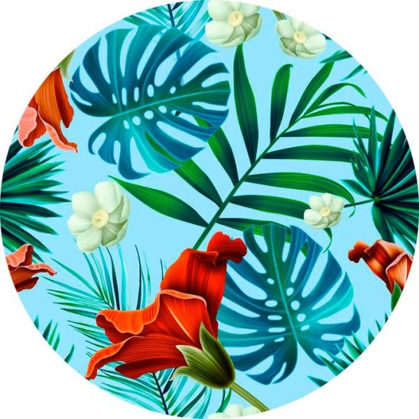 Mascarilla Tropical Print Diseño